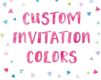 Custom Invitation Colors | Customize any OBJ Invitation Color to Match Your Party Theme!