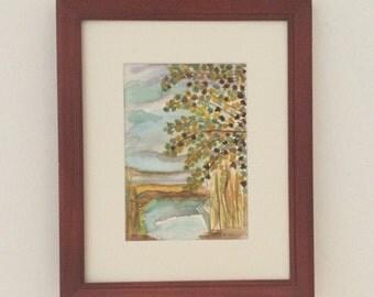 Watercolor Landscape Painting, Original Watercolor Painting, Original Landscape Watercolor, Landscape Watercolor