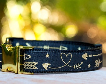 Golden Arrows Dog Collar / Aztec Arrows Dog Collar / Dog Collars Australia