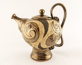 Ceramic Teapot, Pottery Tea Set, Ceramics and pottery, Stoneware teapot, Tea pots, Ceramic tableware, metallic teapot, Ceramic tea set