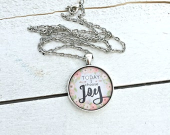 Choose Joy; Choose Joy Necklace; Choose Joy Jewelry; Today I choose Joy