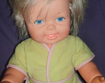 "70's Kenner G.M.F.G.I *Baby Won't Let Go* 16.5"" BABY DOLL for Play Display or Custom"