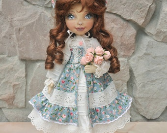 Textile doll, decorative doll,collectible dolls, doll cotton, rag doll, art doll