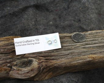 Circle Geo Stud - Sustainable Sterling Silver - Handmade in Canada- eco-friendly - fair trade