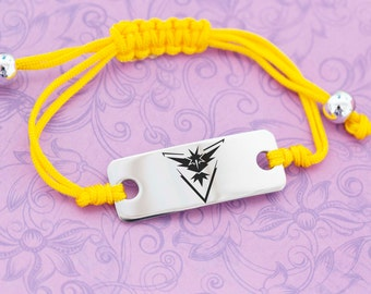 Team Instinct Bracelet - Pokemon Go - Pokemon Master - Pokemon Trainer - Yellow Team - Instinct Pride - Pokemon Team - Zapdos