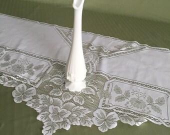 Fenton White Milk Glass Vase