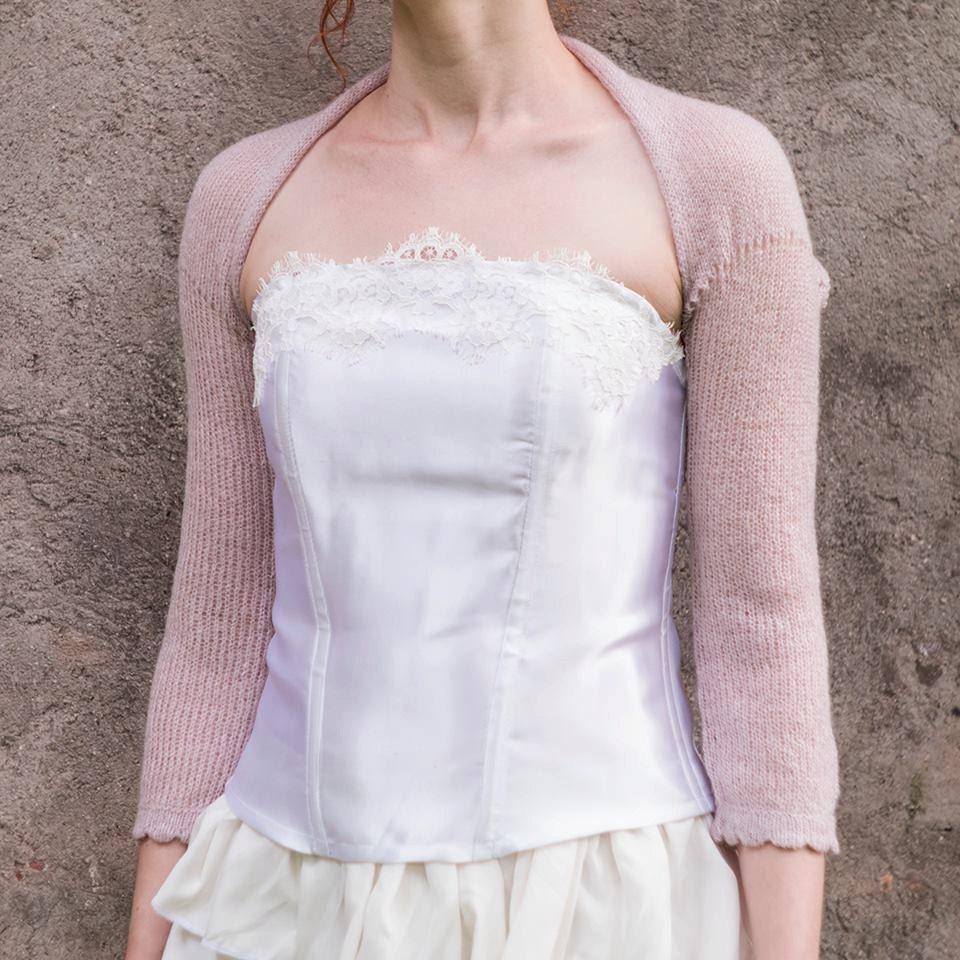 Dusty Pink Wedding Bolero Bridal Bolero Jacket Cover Up Knit