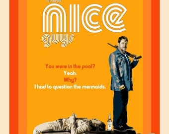 Film Posters//'The Nice Guys' (2016)// Buddy Movie // Russell Crowe // Ryan Gosling // Neo-noir