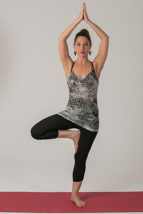 Sale 40 Off L Size Sheer Yoga Top Yoga Clothing Yoga
