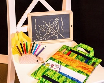 Kids creative busy bag Crayon Art Folio Funny monsters and bright colours