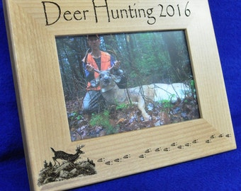 Husband Gift ~ Gift For Dad ~ Hunting Gift ~ Engraved Hunting Frame ~ First Buck Frame ~ Birthday Gift Guy ~ Deer Hunting ~ Deer Hunting ~