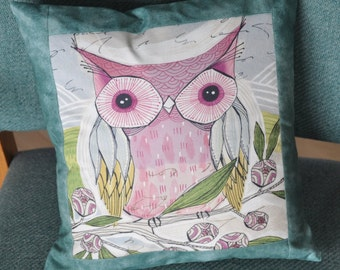 Owl Pillow, Nursery Decor pillow, Hoot Owl Baby shower gift idea, , Decorative Throw Pillow, OR pillow case Only  for 16 dollar,