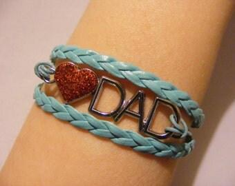 Love Dad bracelet, love Dad jewelry, dad bracelet, dad jewelry, daddy's girl bracelet, daddy's girl jewelry, fashion bracelet