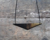 Brass Lo Angle Necklace by YeouDesigns