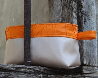 Orange and Brown Toiletry Kit
