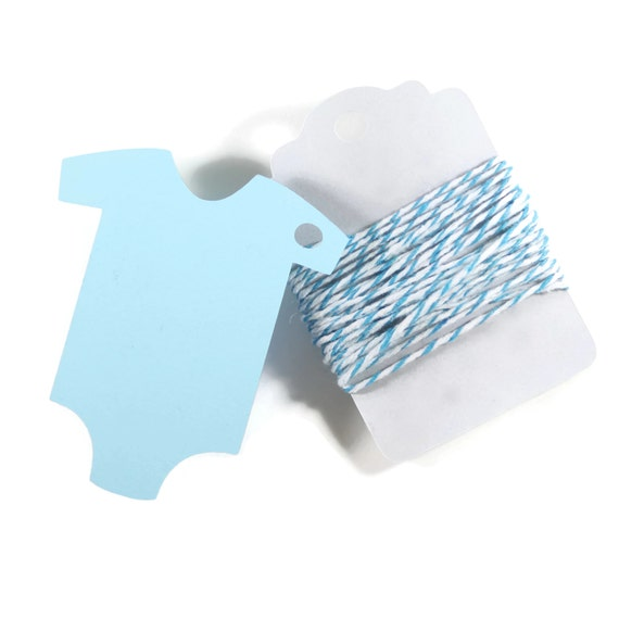 Baby Blue Bathroom Set: Light Blue Baby Shower Tags Set Of 20 Blank By