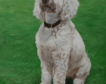 Custom Dog portrait, Pet portrait, Dog Painting, Dog Art - oil painting on stretched canvas ***Lowest price is 50% DEPOSIT price***