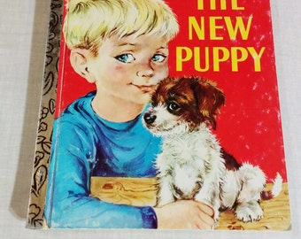 "1977 Little Golden Book 370 ""The New Puppy"" By Kathleen N. Daly"