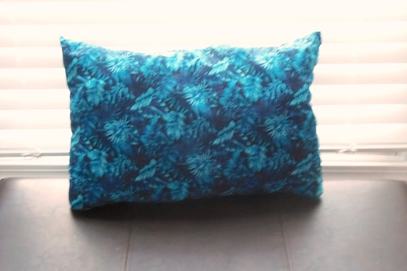 Smoke Blue Throw Pillow : Decorative Throw Pillow Cotton Blue Flowers by PillowsForNow