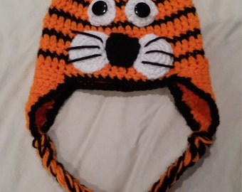 Tiger hat photo prop newborn to 12 months