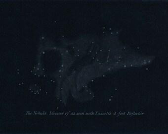1897 Nebula Antique Astronomy Print