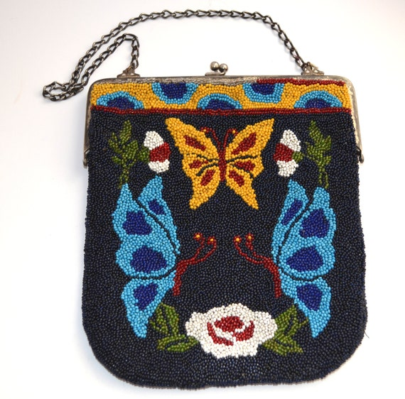 Vintage butterfly decorated purses
