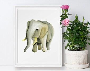 Elephant nursery decor, elephant nursery wall art, elephant nursery art, elephant decor, elephant wall decor, elephant art, elephant print