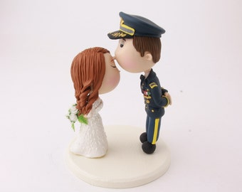 Wedding cake topper. Army Groom. Handmade. Fully customizable. Unique keepsake.
