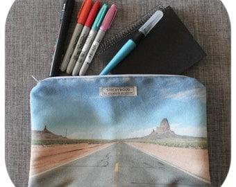 USA Roadtrip Pencil Case/Lge Clutch