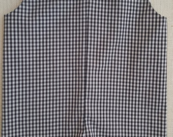"Jon Jon  Longall or Aline Medium 1/8"" Gingham  Check Shortall  Embroidery Blank Long-All"