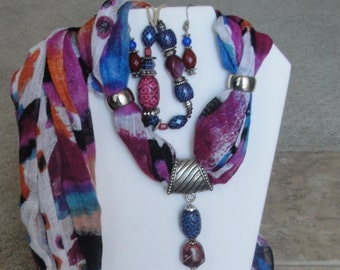 Brightly Colored Scarf 3 Piece Set.