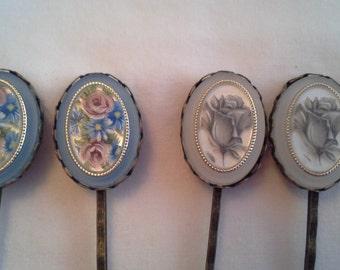 Floral Hair Pins  H 105