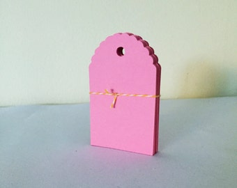 "Pink Gift Tags - Favor Tag (2.5"" wide), Alll Purpose Blank Pink Tags"