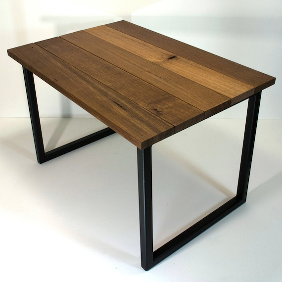Reclaimed Coffee Table With Black Metal Table By Autumnandrose