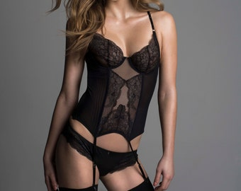 Leavers Lace and Soft Mesh Basque