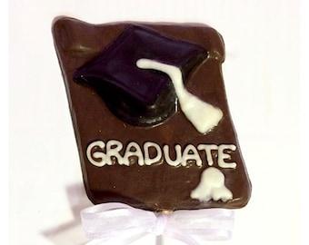 Graduation Belgian Chocolate Lollipops