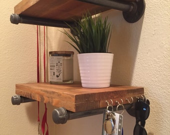 Industrial Pipe Shelving Bracket (PAIR) - Farmhouse Decor - Modern Shelving - Pipe Furniture - Rustic Floating Shelf
