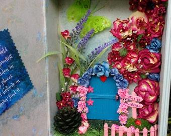 Fairy Garden within a book box, Fairy Door,  Secret Garden, Fairy Magic
