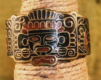 Inca Patterned Copper Cuff Bracelet,Boho Cuff,Stamped Copper Crafted Jewelry,Copper Cuff Bracelet,Etched Copper Cuff Bracelet,Copper Jewelry