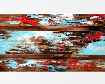 Abstract painting Original oil painting Canvas art Abstract art Abstract wall art Modern art Contemporary home décor Contemporary art 24x48""