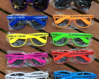 10 ADULT Personalized Sunglasses, Wedding Party Favor, Party Favor Sunglasses, Bachelor Party Favor, Bachelorette Sunglasses, Bridal Party