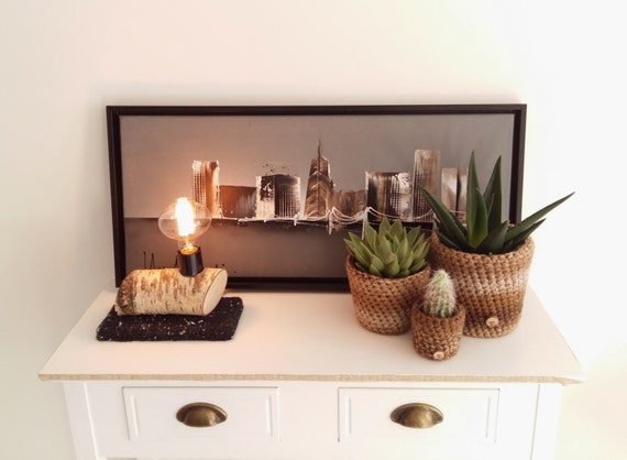 birken ast lampe mit edison kohlenstoff gl hlampe einzige. Black Bedroom Furniture Sets. Home Design Ideas