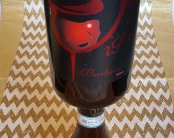 Wine Bottle Candle Holder, Wine Bottle Candle, Wine Bottle Decor, Wine Decor, Home Decor, Wine Bottle Crafts