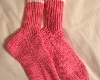 Heavy Hand Knit Socks, size 6 - 9