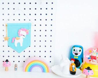 Unicorn Banner - Turquoise