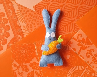 Rabbit -PDF pattern, instant download, felt sewing patters, handsewing, DIY, sewing crafts, no. 08