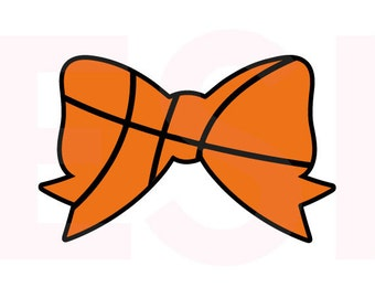 Basketball Bow SVG, DXF, EPS, cutting files for use in Silhouette Studio and Cricut Design Space.