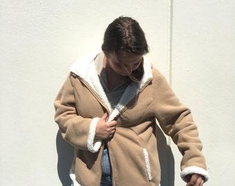 cozy tan jacket XL