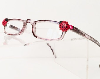 Ladybug Reading Glasses +2.75, Slim reading glasses