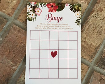 Bridal Shower Bingo Card Game, Perfect Wedding Shower Game